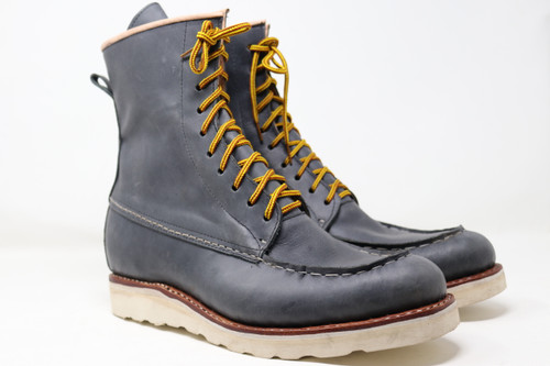 Classic Moc Toe Leather Boots - Gun Smoke Grey