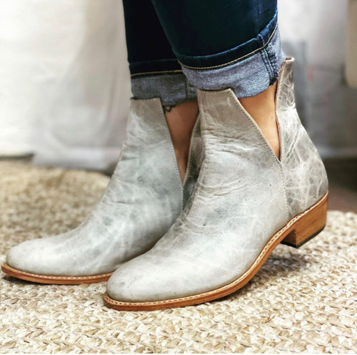 French Style V Cut Handmade Leather Boots- Made to Order