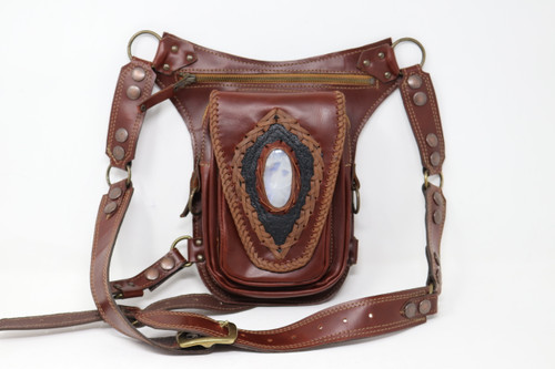 Aventurera Leather Utility Belt Bag  front view
