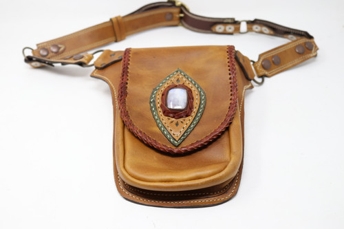 Carmel leather Utility Belt Bag