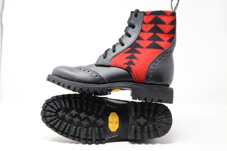 Women's Black & Wool Handmade Leather Boots -Rio Rancho Black
