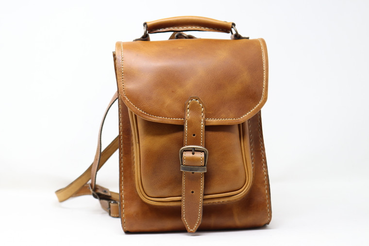 Leather Backpack - Carmel