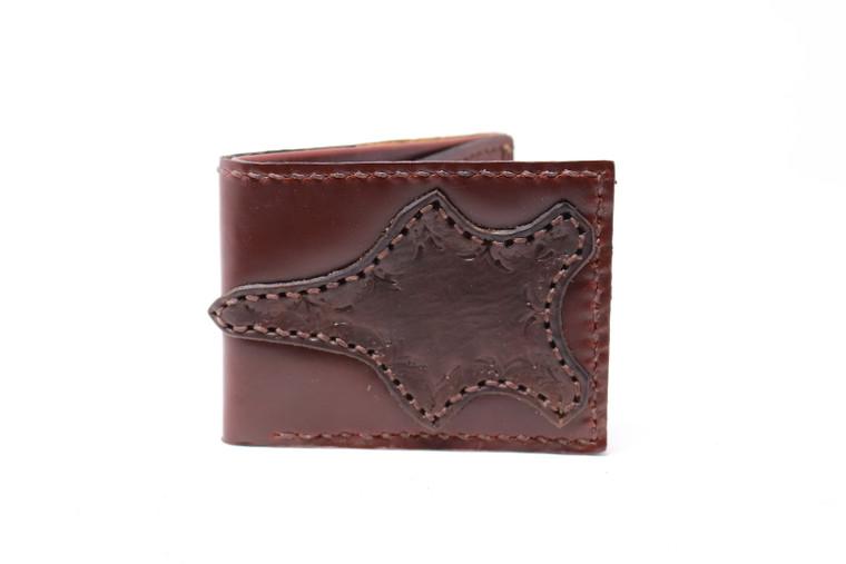 Medium Folding Western Leather Wallet -Multiple Colors