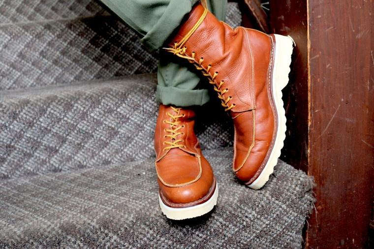 el gato montes moc toe boots work boots custom made