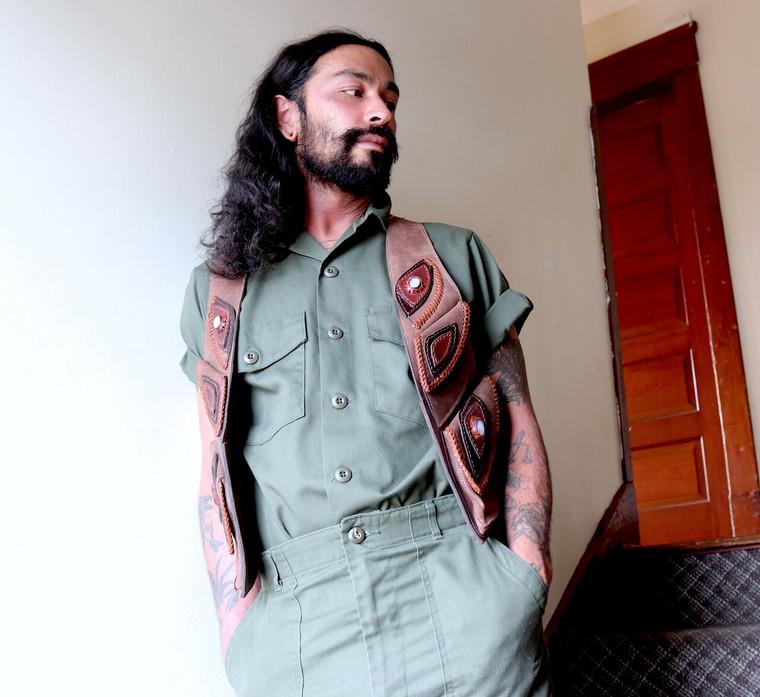 Men's Leather Holster Vest- *El Norteno* Multiple Colors