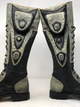 Women's Tall Gunslinger boots Black and Gray close up