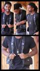 El Sureno Holster Vest Holster Bag Lifestyle shot with model