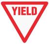 """""""Yield""""  17"""" Floor Marking Sign"""