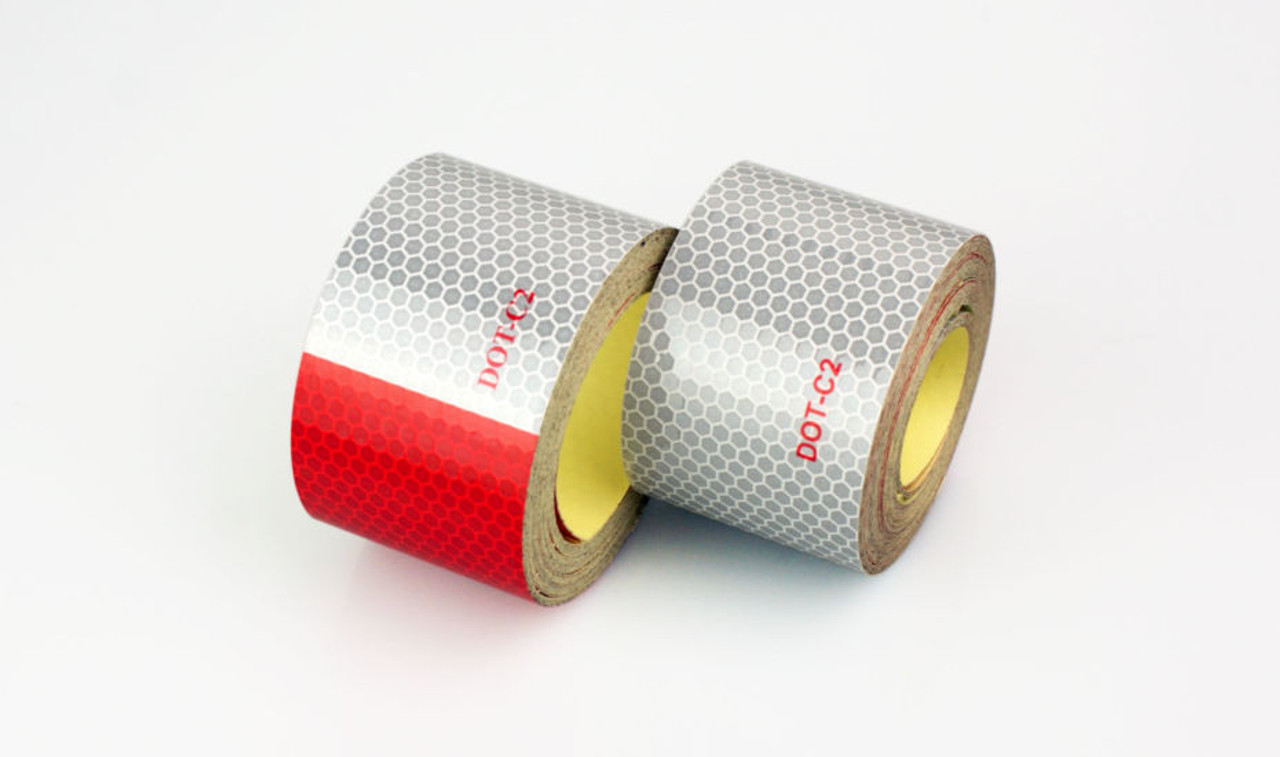 """Reflective DOT-C2 Conspicuity Red/White Tape– 7 year durability (2""""x150')"""