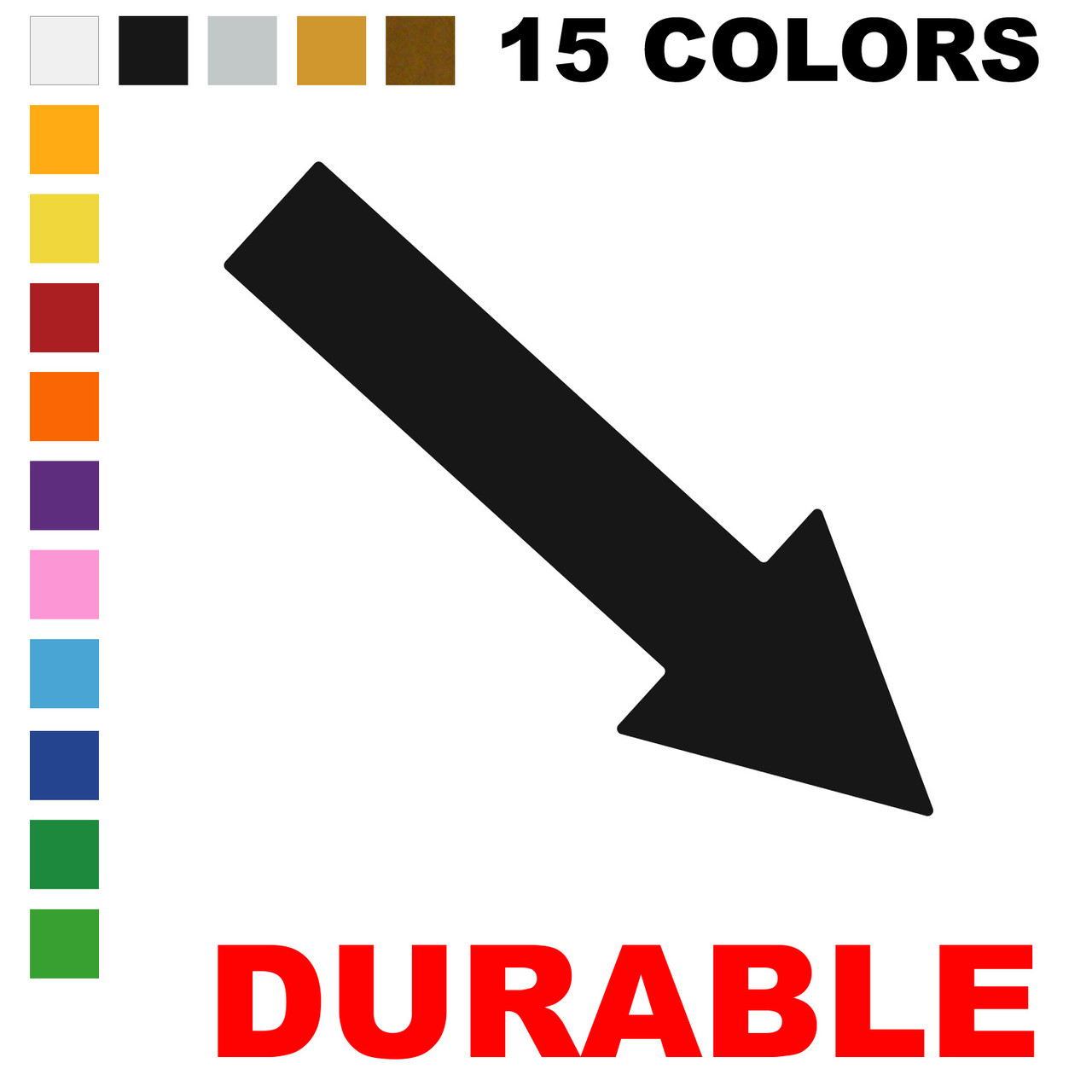LiteMark Durable Vinyl Floor  Arrows