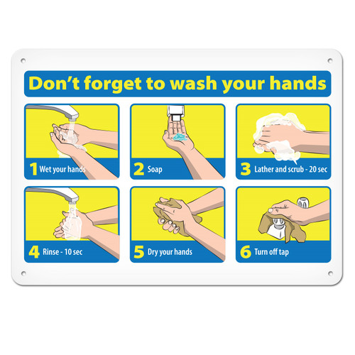 Wall Sign | Don't Forget To Wash Your Hands | Various Sizes and Materials