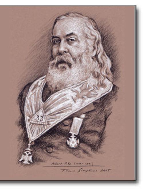 Albert Pike (1809-1891) Scottish Rite Freemason 2015 by Travis Simpkins