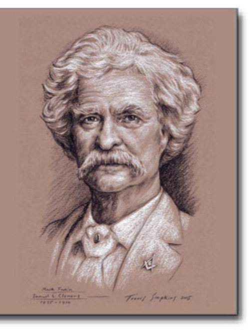 Mark Twain – Samuel Clemens (1835-1910) Freemason, Author, Humorist by Travis Simpkins
