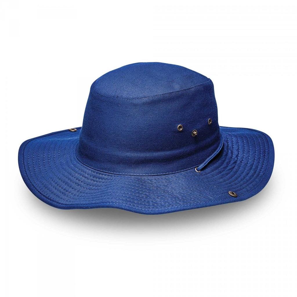 Royal Blue Kiddies Wide Brim Safari Hat