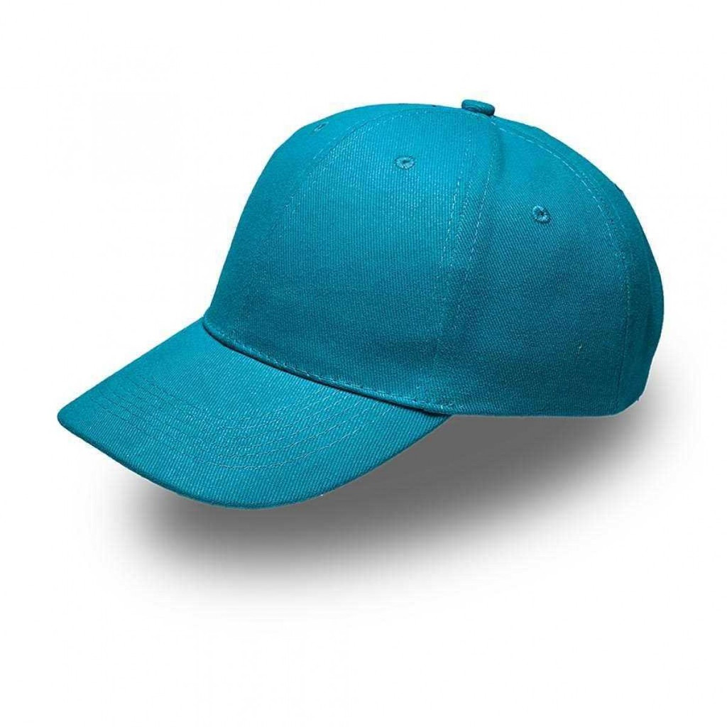 Turquoise 6 Panel Brushed Cotton Cap