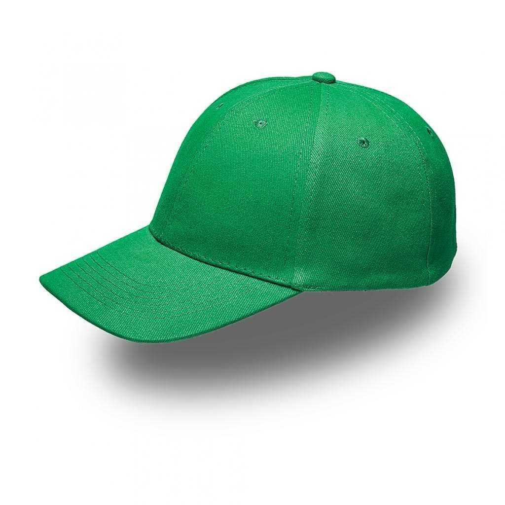 Emerald Green 6 Panel Brushed Cotton Cap