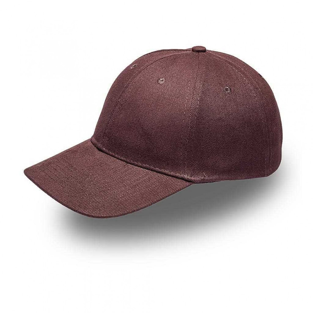Chocolate Brown 6 Panel Brushed Cotton Cap