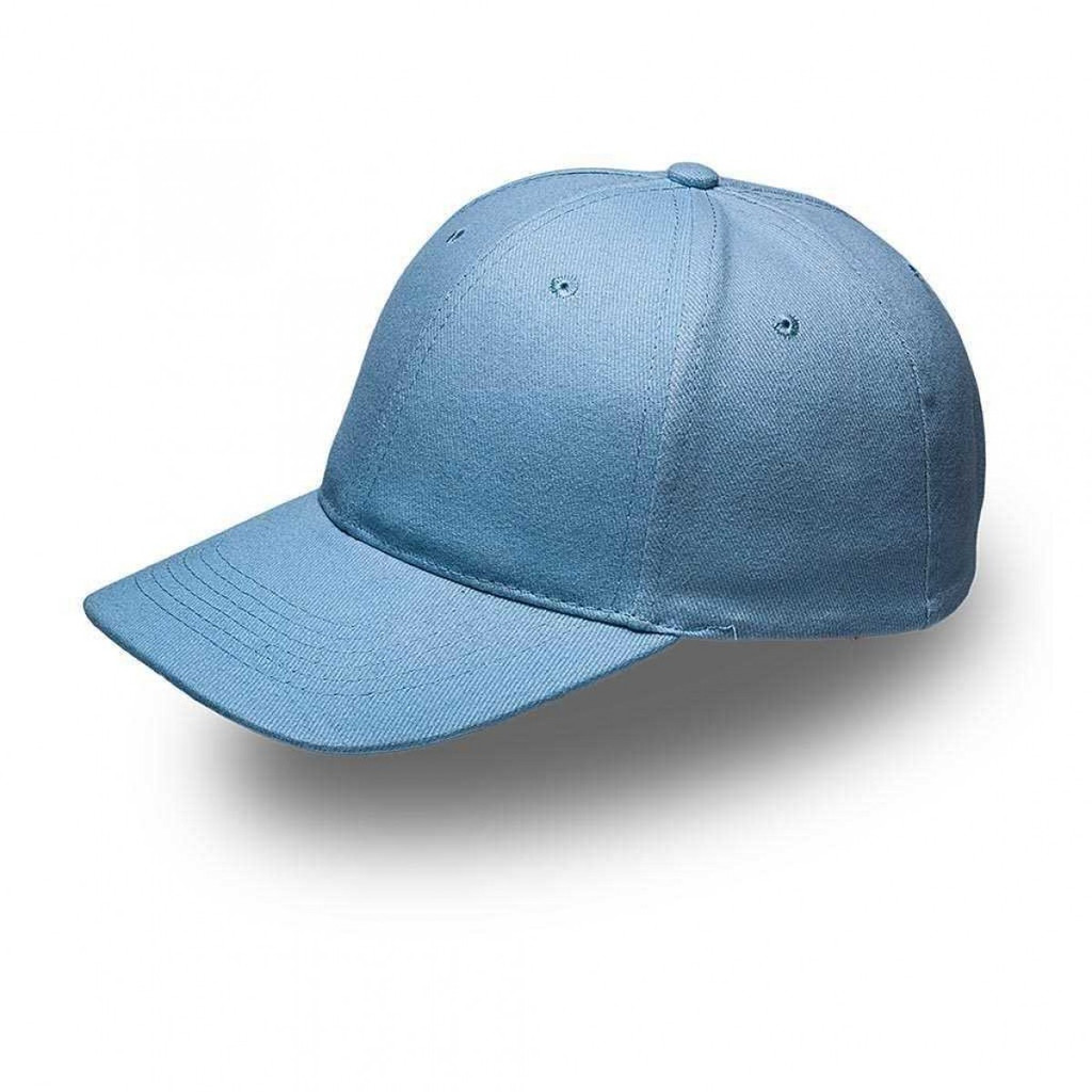 Sky Blue 6 Panel Brushed Cotton Cap