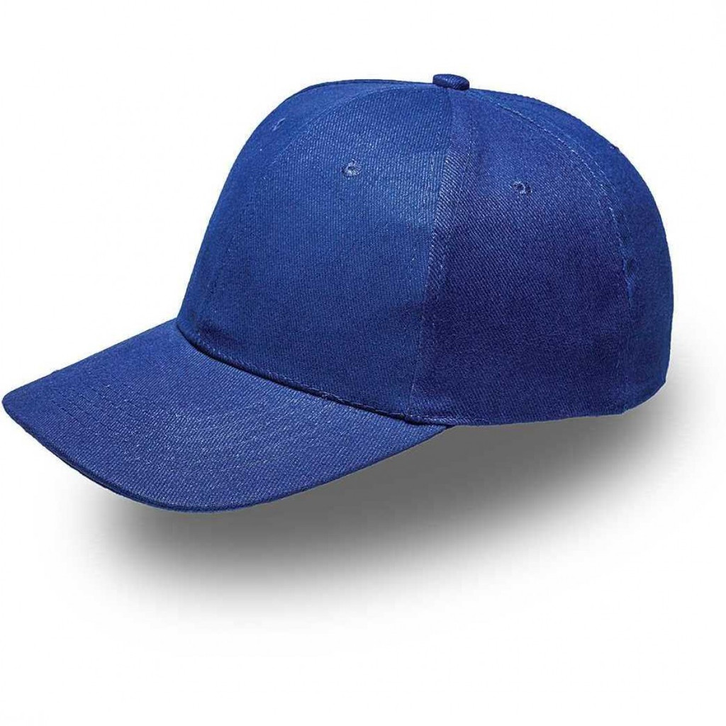 Royal Blue 6 Panel Brushed Cotton Cap