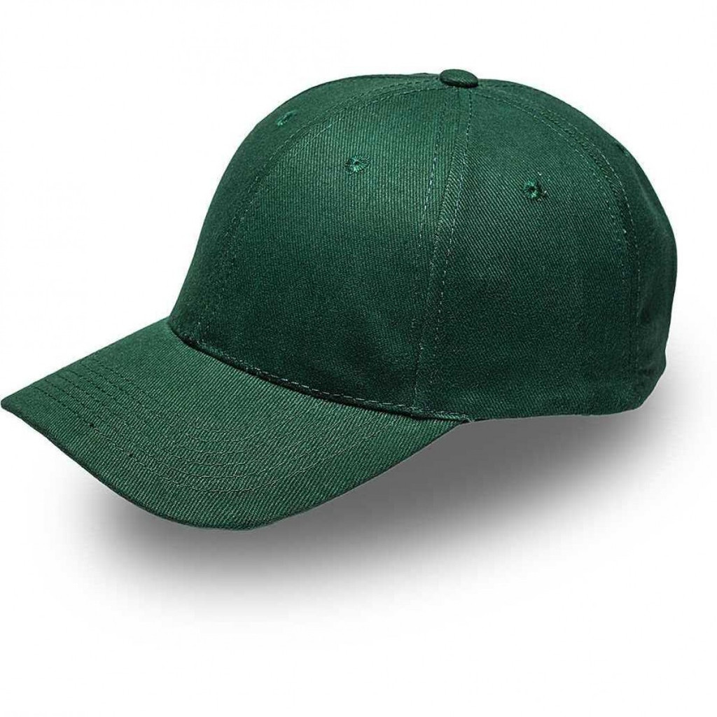 Bottle Green 6 Panel Brushed Cotton Cap