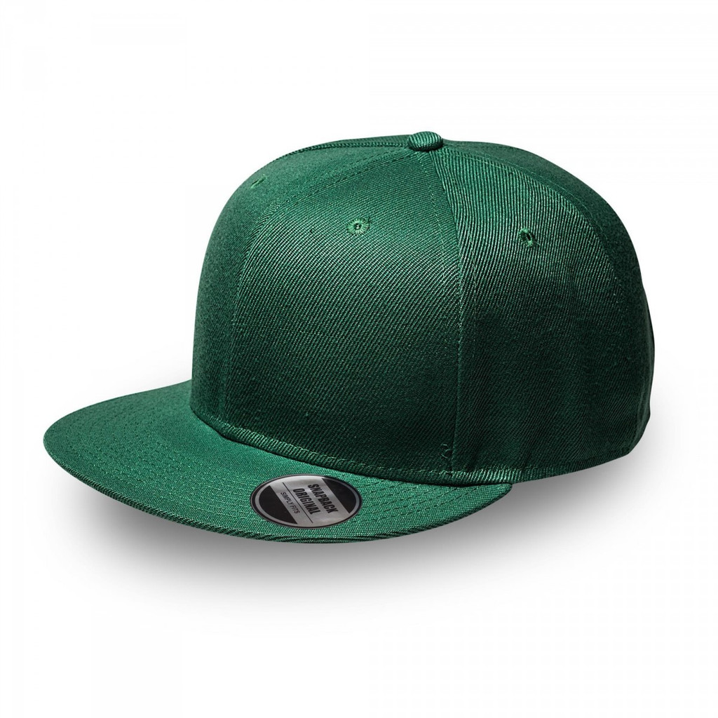 Bottle Green Original Snapback Flat Peak Cap