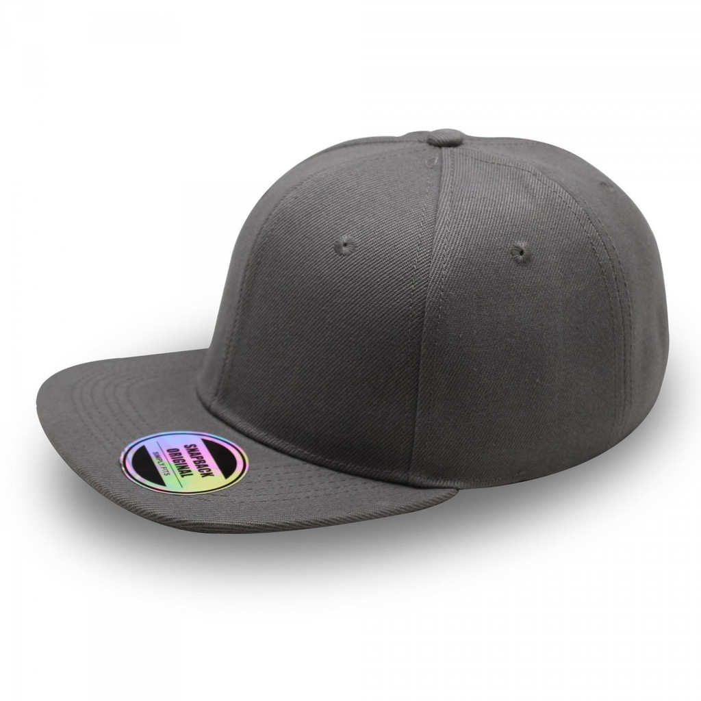 Heather Grey Original Snapback Flat Peak Cap