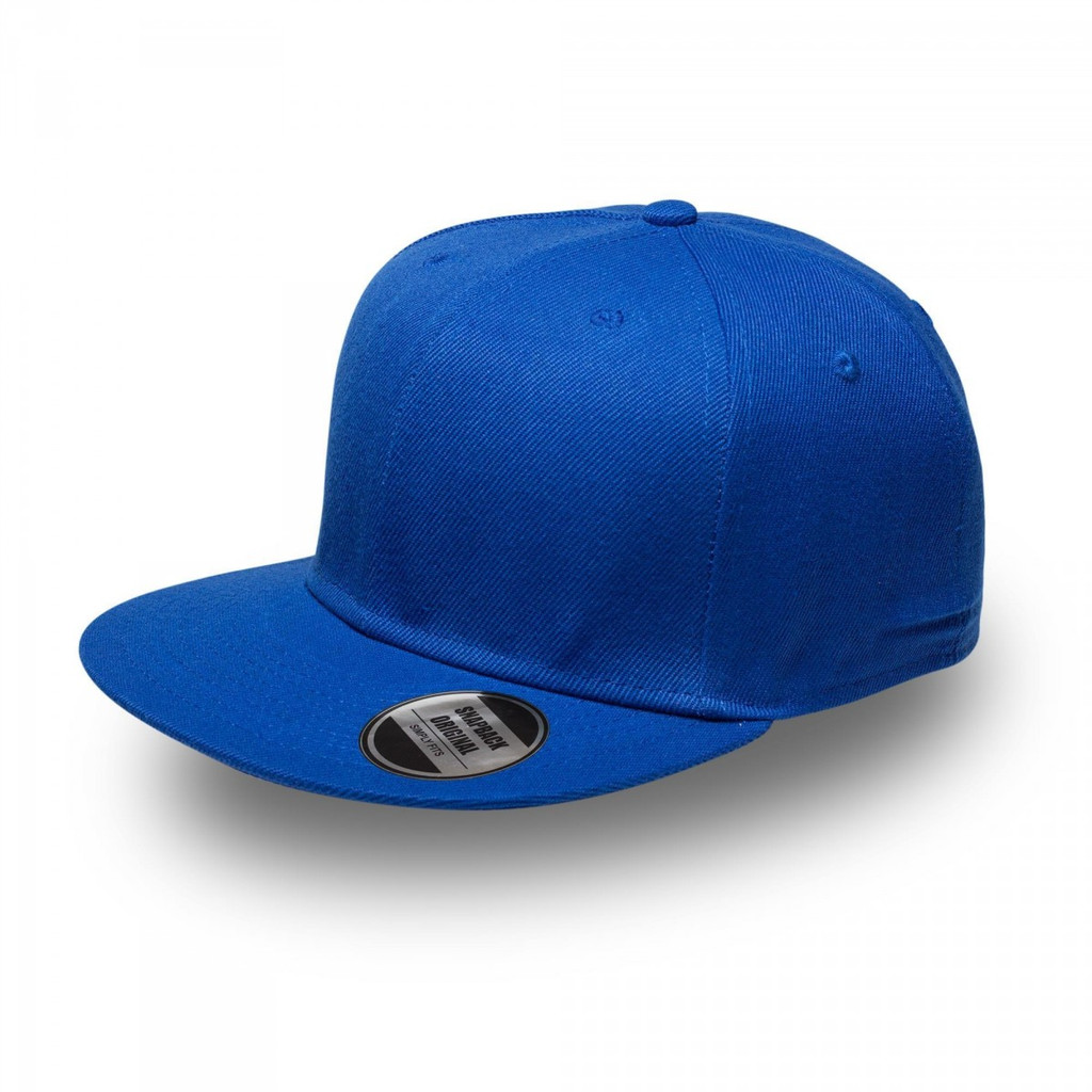 Royal Blue Original Snapback Flat Peak Cap