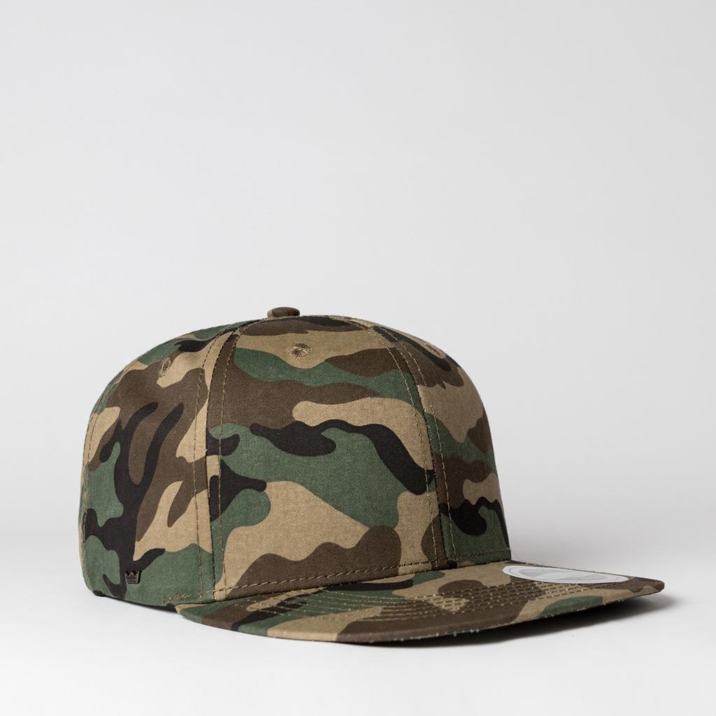 UFlex Snapback 6 Flat Peak Cap | Camo