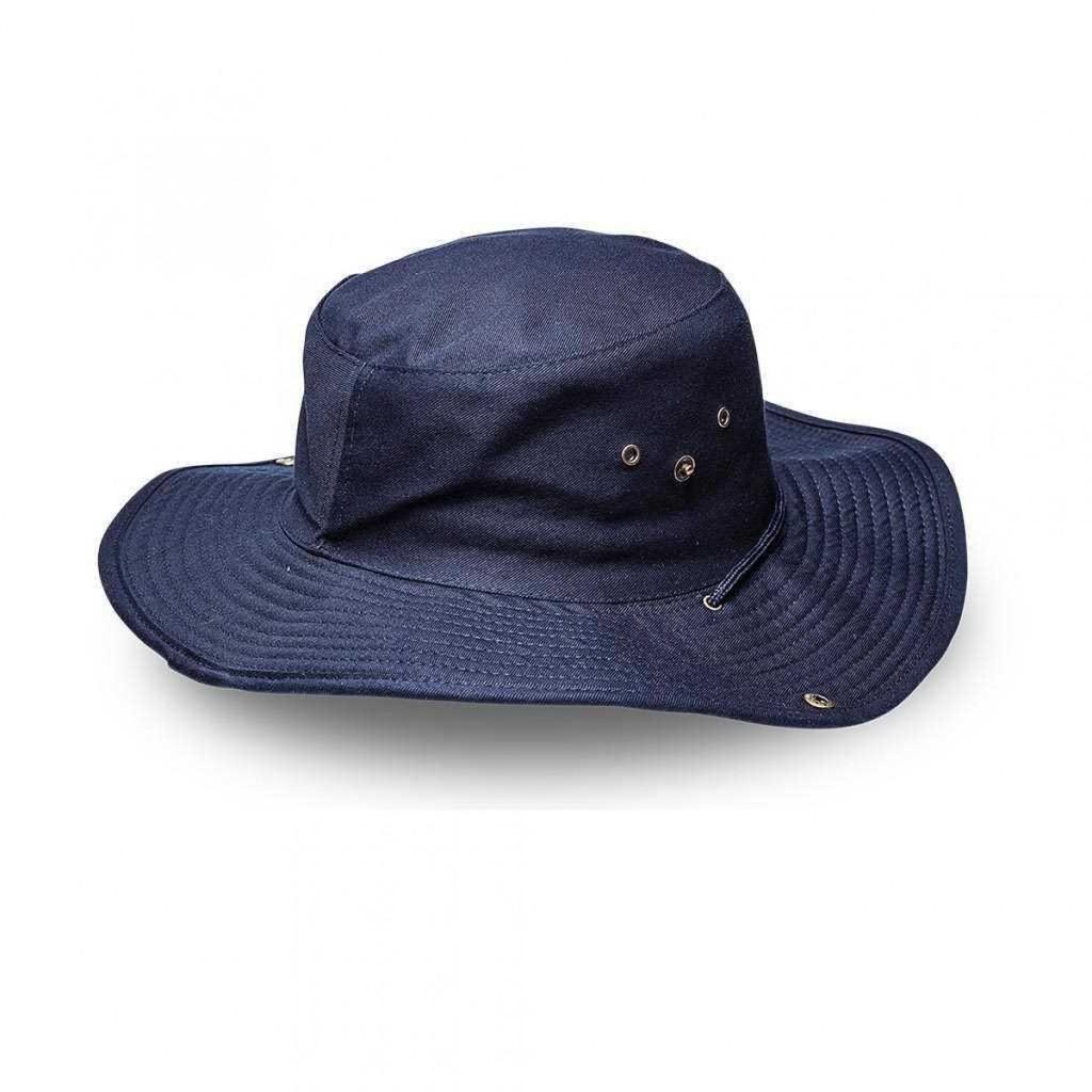 Navy Safari Wide Brim Hat