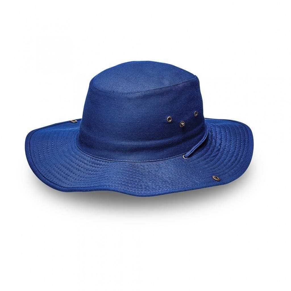 Royal Blue Safari Wide Brim Hat