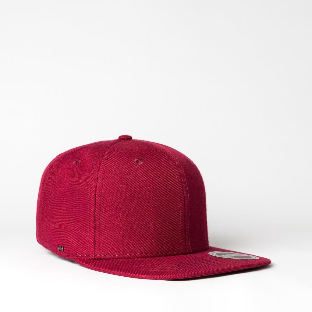 UFlex Snapback 6 Flat Peak Cap | Burgundy