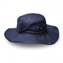 Navy Kiddies Wide Brim Safari Hat
