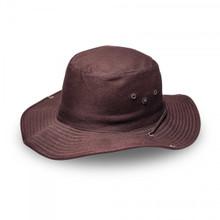 Chocolate Brown Kiddies Wide Brim Safari Hat