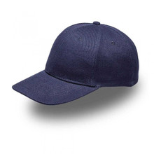 Navy 6 Panel Brushed Cotton Cap