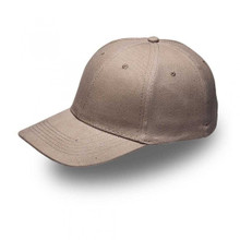 Khaki 6 Panel Brushed Cotton Cap