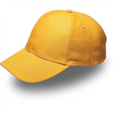 Yellow 6 Panel Brushed Cotton Cap