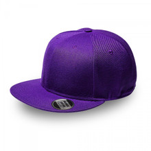 Purple Original Snapback Flat Peak Cap
