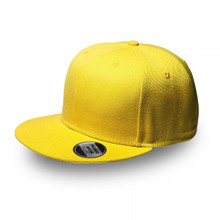 Yellow Original Snapback Flat Peak Cap