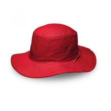 Red Safari Wide Brim Hat