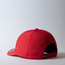 UFlex High Tech Curved Peak Cap | Red | Back View