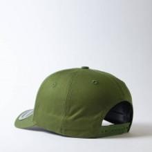 Uflex 5 Panel Curved Peak Snapback Cap I Olive