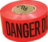 """Red Danger Barricade Tape, 3"""" X 1000, 2MIL"""