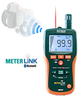 Extech Pinless Moisture Psychrometer with IR Thermometer and