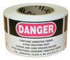 "White 3"" X 5"" Danger Asbestos Labels"