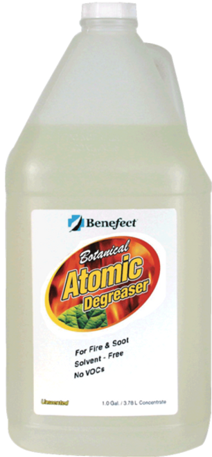 De-greaser atomic benefect fire and soot