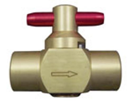 1/4 Fpr Brass Solution Hose Valve