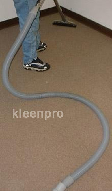 lead hose vacuum for truck mounted owners 25' grey with converter.