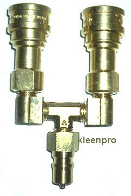 Y splitter solution hose