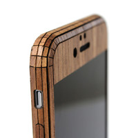 iPhone 6 / 6s / 6 Plus (IPH6) Walnut front panel edge view