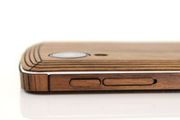 Phone Side Wraps / Buttons (WRP) Walnut edge view